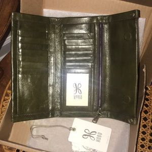 HOBO FABLE WALLET Willow Green EUC FOLDING CLUTCH